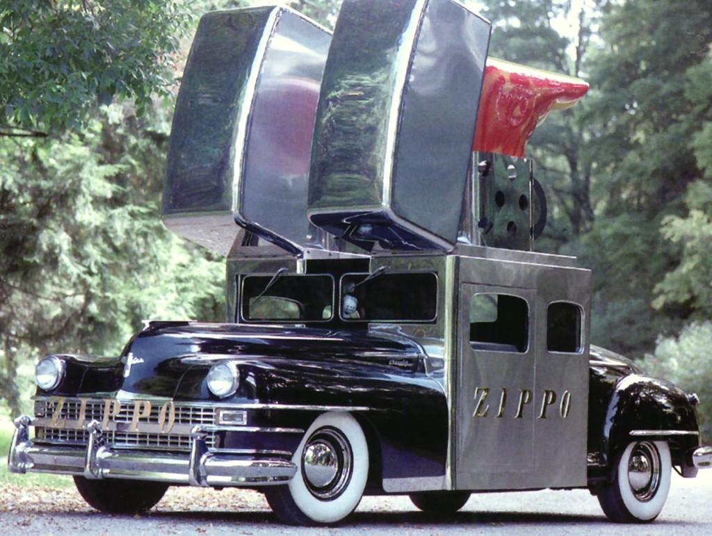 1947 Chrysler Saratoga Zippo Lighter Car Black Frt Qtr