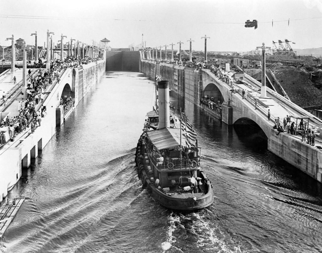 First Vessel Through Gatun Locks