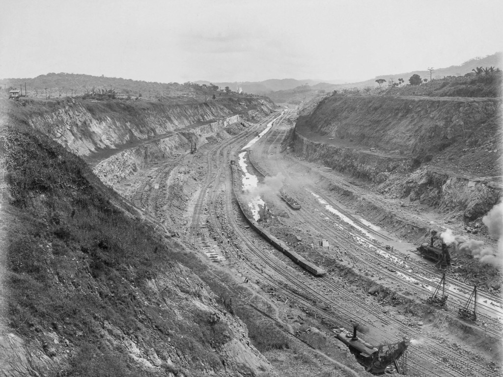 Construction of the Panama Canal, Panama, 1912.