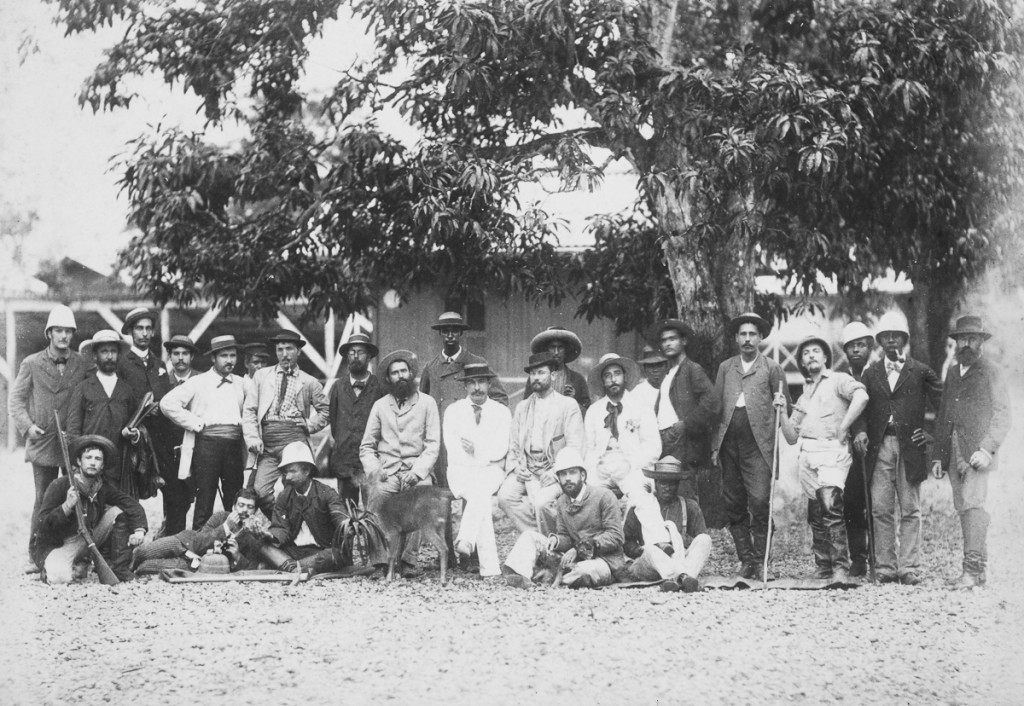 San Pablo section - group of company employees, c 1885.