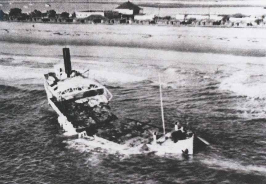 Затонувший Монте-Карло на пляже Коронадо 80 лет назад