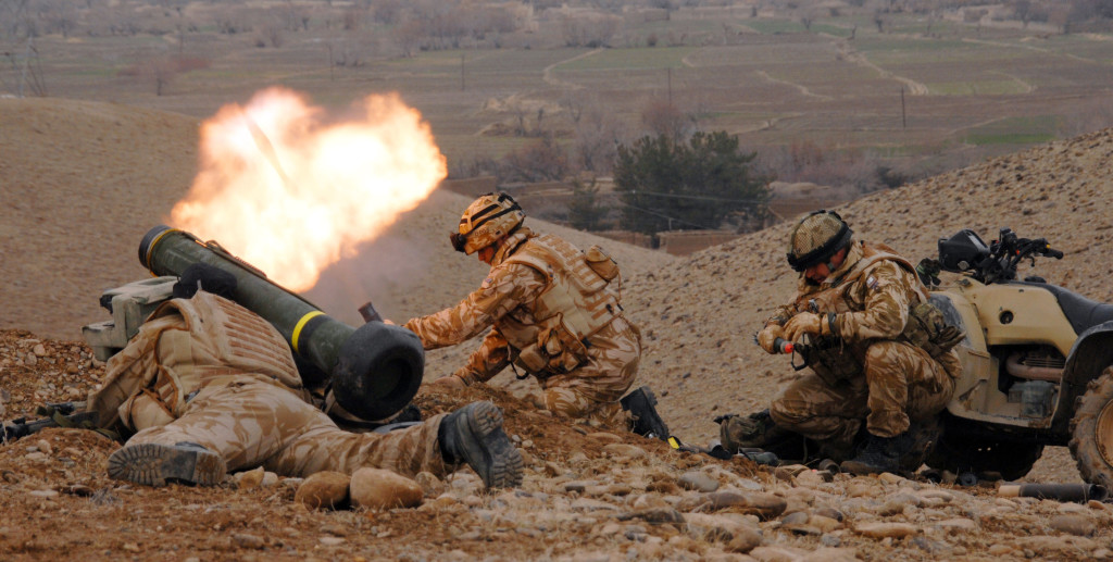 Royal Marines from Fire Support Troop, Charlie Company, 40 Commando.