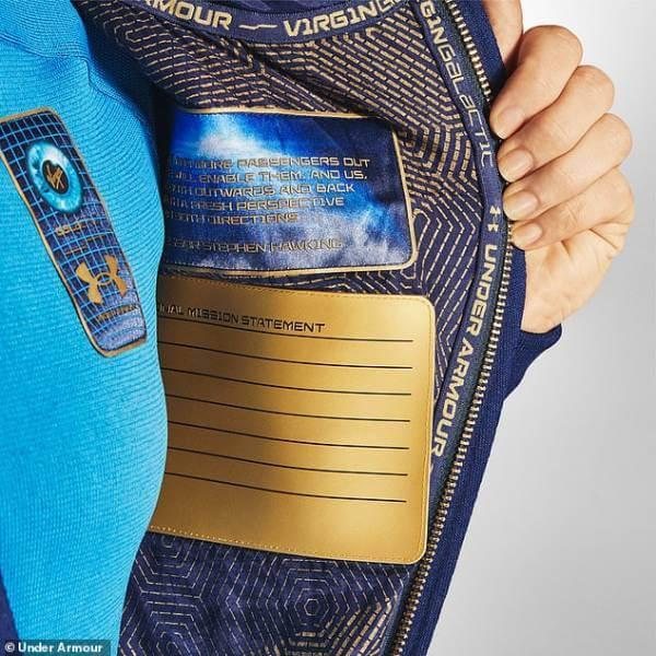 Одежда для космических туристов Virgin Galactic от Under Armour.