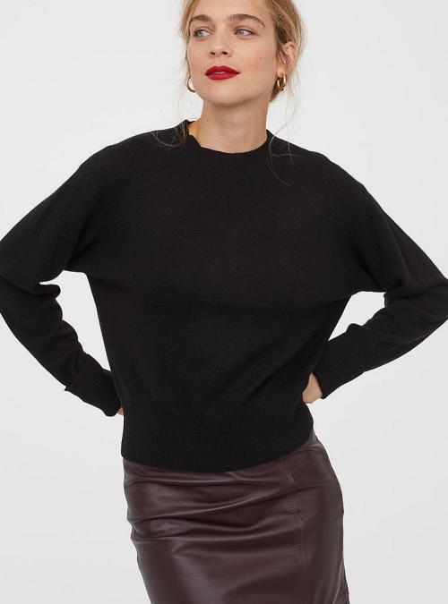 Простой кашемировый свитер H&M