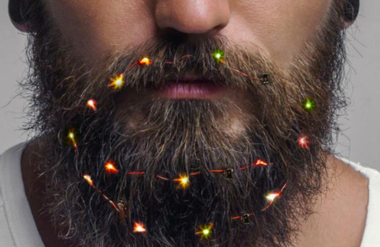 Праздник к нам приходит: Beard Lights - гирлянда не для елки!