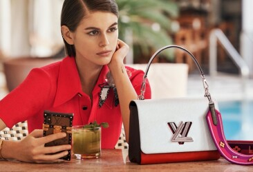 18-летняя Кайя Гербер в своей первой кампании для Louis Vuitton