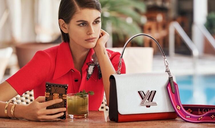 18-летняя Кайя Гербер в своей первой кампании для Louis Vuitton